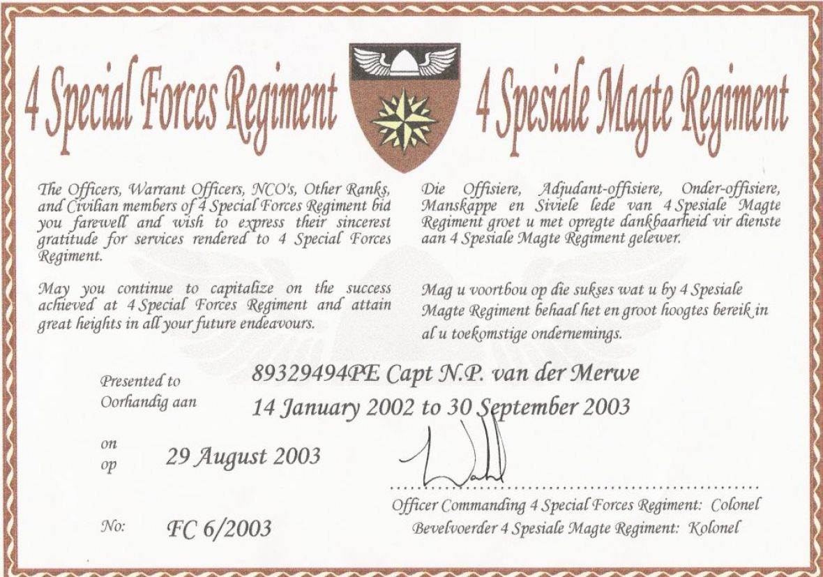 SANDF Special Forces