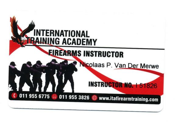 International Training Academy Accreditation as Firearms Instructor